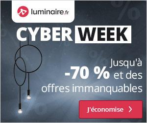 Bon plan Cyber Week : jusqu'à - 70% de remise + jusqu'à -15% supplémentaires avec code promo