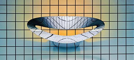 Applique LED de designer blanche Mesmeri
