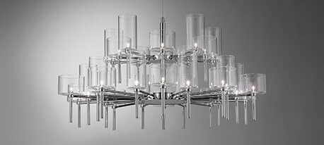 Lustre design Spillray à abat-jour en verre