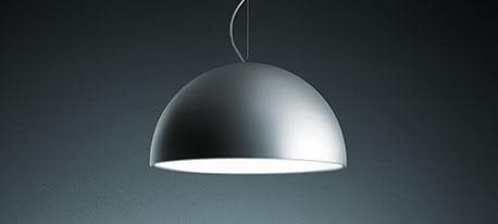 Lampe pendante de couleur aluminium CUPOLA