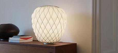 Lampe de table design Pinecone en verre dépoli
