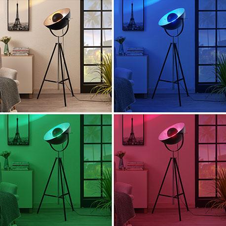 Lindby Smart lampadaire trépied LED Muriel