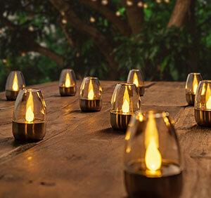 Lampes à poser solaires LED Pedas