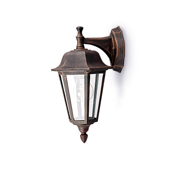 Applique d'extérieur LED Lamina aspect rouillé