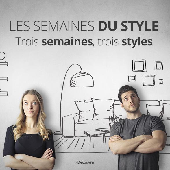 Les semaines du style chez Luminaire.fr - 20 % de remise sur vos styles préférés !