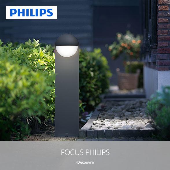 Focus jardin avec les lampes Philips