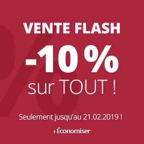Vente Flash -10 % sur tout !