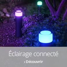 Éclairage connecté pour le jardin >