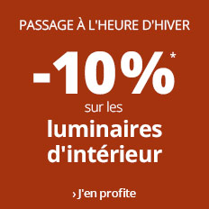 Passage à l'heure d'hiver : -10 % sur l'intérieur !