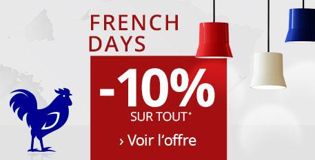 French Days -10% de remise sur tout*