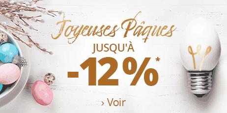 Joyeuses Pâques -12 % sur votre commande !