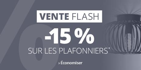 -15 % Ventes Flash sur les plafonniers