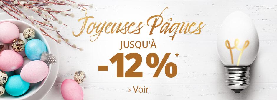 Joyeuses Pâques 12 % de remise>