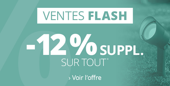 VENTES FLASH | 12% de remise*