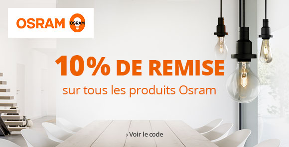 10 % de remise sur la marque OSRAM