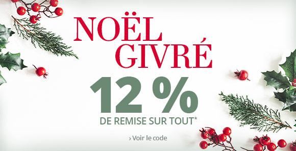 Noël givré -12 % sur tout le site !