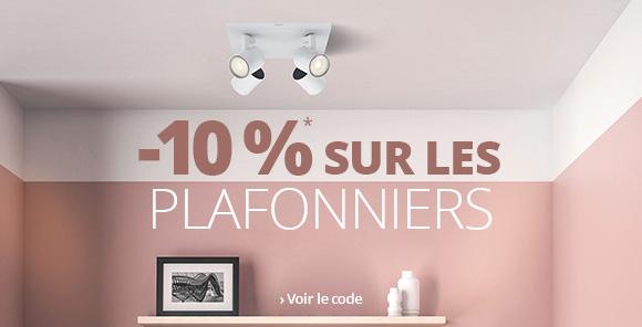 -10 % sur les plafonniers >