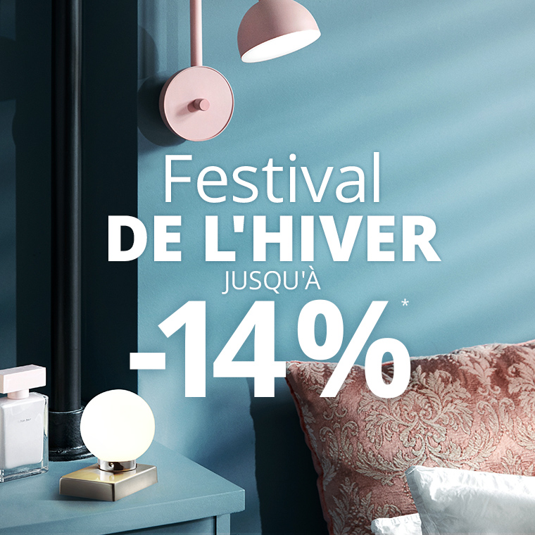 Festival de l'hiver : Jusqu'à 14 % de remise*