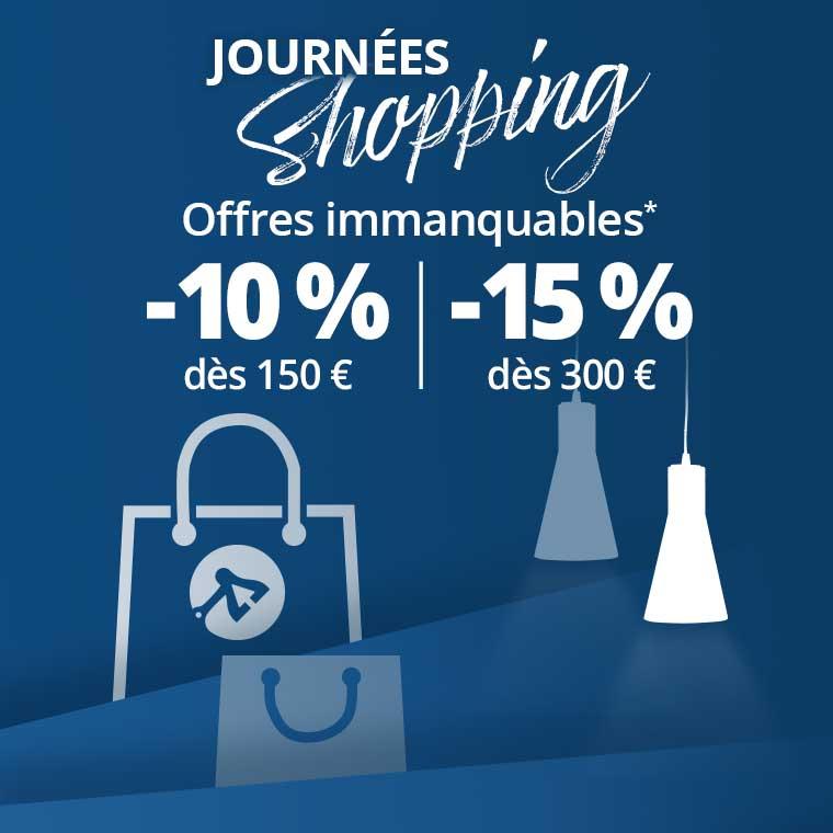 Shopping Days jusqu'à -15 % suppl.