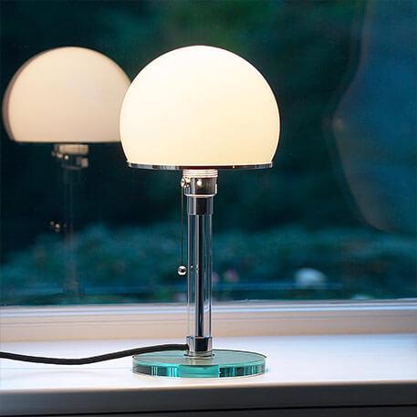 Lampe à poser en verre Wagenfeld (9030003)