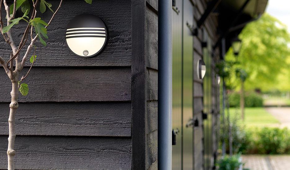 Applique d'extérieur LED Yarrow avec détecteur