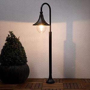 Borne lumineuse Daphné noire (9611080)