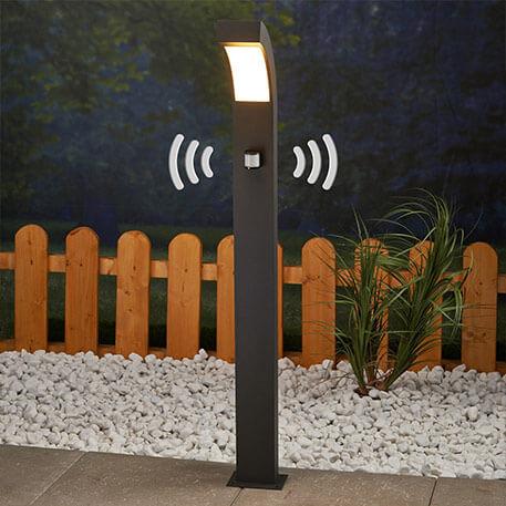 Borne lumineuse LED Lennik à détecteur de mvt (9619018)