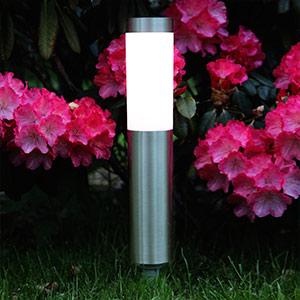 Lampe LED à piquet de forme cylindrique Freya