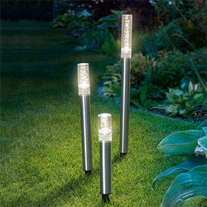 Lot de 3 bâtons lumineux LED solaires Trio Sticks