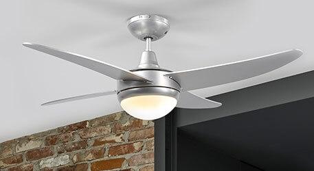 Ventilateur de plafond gris Finnley, éclairé