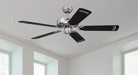 Ventilateur de plafond Cyclone noir élégant