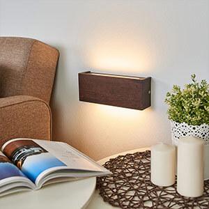 Applique LED bois Mila chêne colonial 25 cm