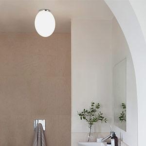 Astro Mashiko Plafonnier de salle de bains rond 30cm chrome