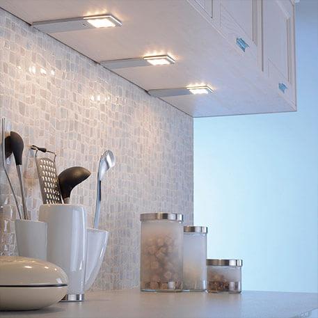 Lampe sous meuble LED Helena set 3 capteurs 6,6 cm