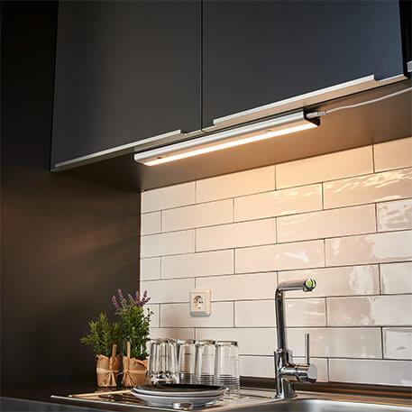 Lampe sous meuble LED Devin avec détecteur