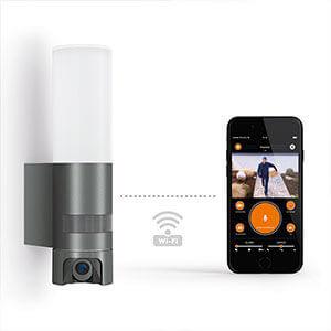 Applique d'extérieur LED L 600 Cam avec capteur