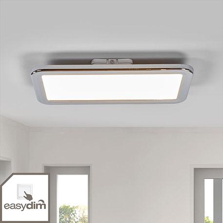 Plafonnier pour salle de bain LED Filina, easydim