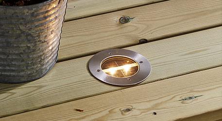 Luminaire encastré solaire à LED ronde Decklight