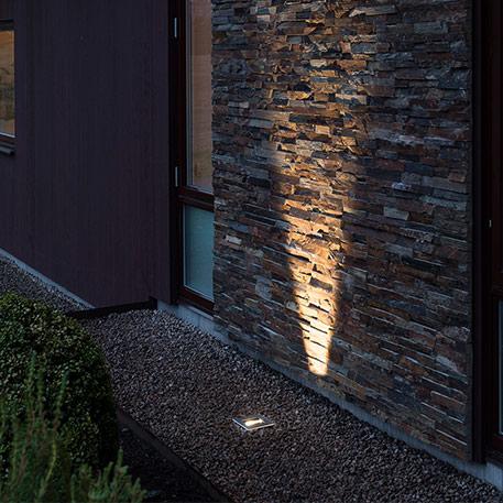 Tache de sol LED peinte avec flex. Emission lumineuse, 6 W