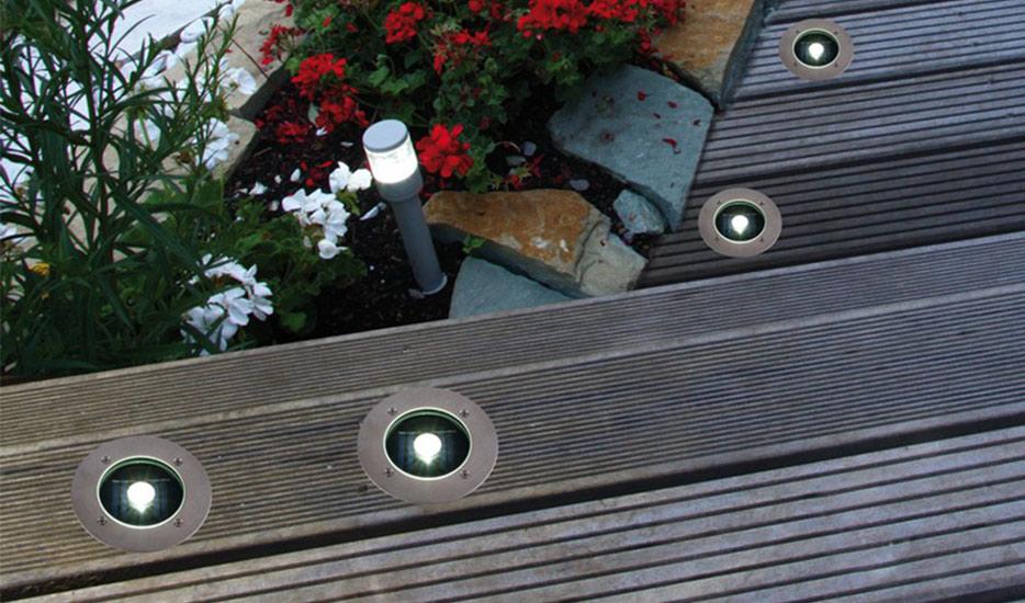 Lampadaire encastré solaire à LED Verona