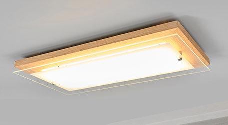 Plafonnier bois LED Mylan en bois, dimmable
