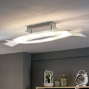 Plafonnier LED en verre Elina
