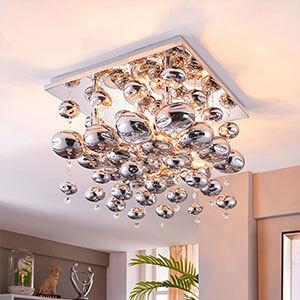 Plafonnier Esfera garni de sphères en verre