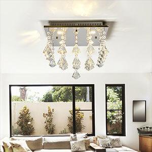 Plafonnier LED scintillant Fanni