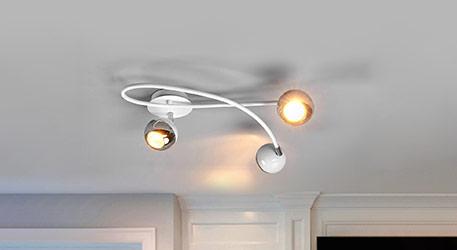 Plafonnier LED Arvin élégant en blanc