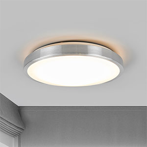 Plafonnier LED Jasmin simple, abat-jour rond