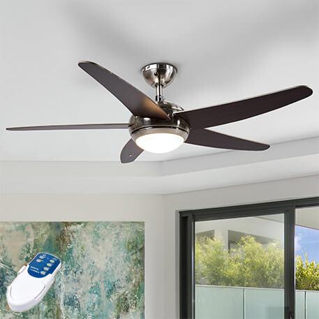 Ventilateur de plafond Anneka, éclairé