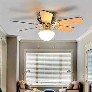 Ventilateur de plafond à 6 pales Flavio à lumière