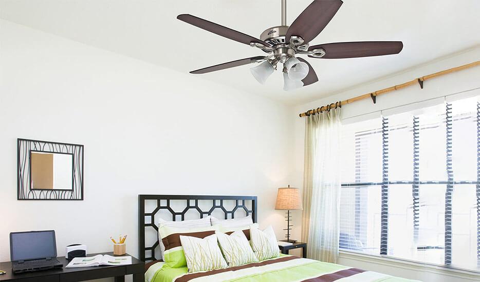 Hunter Builder Plus ventilateur de plafond à pales réversibles