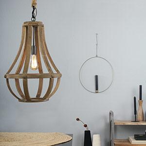 Luminaire suspendu en bois Liberty bell